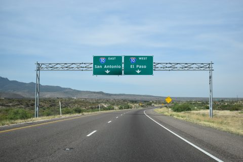IH 20 west at IH 10 - Reeves County, TX