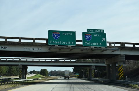I-95 north at I-20 - Florence, SC