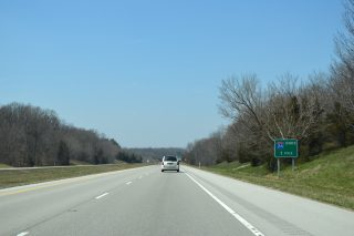 I-24 west at I-57 - Pulleys Mill, IL