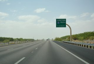 I-10 west at I-25 - Las Cruces, New Mexico