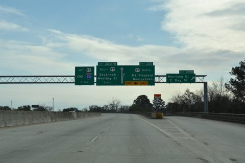 I-26 east at US 17 - Charleston, SC