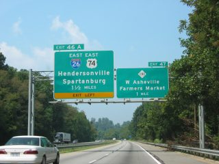 I-40 west at NC 191/I-26 - 2003