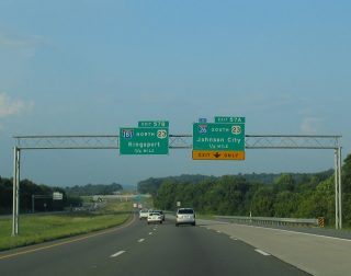 I-81 north at I-26/181 - Colonial Heights, TN