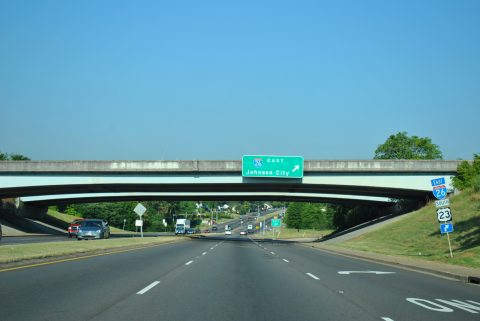 US 11W south at I-26/US 23 - Kingsport, TN
