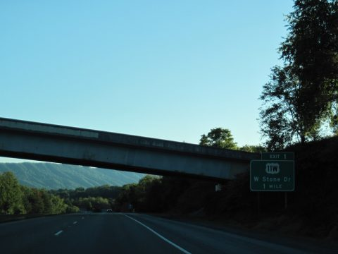 US 23 south at I-26/US 11W - Kingsport, TN