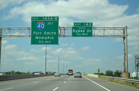 I-30 east at I-40 - North Little Rock, AR