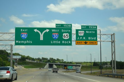 I-40/US 65 east at I-30 - North Little Rock, AR