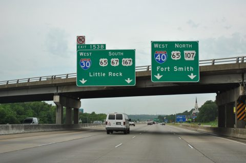 I-40/US 67 west at I-30 - North Little Rock, AR