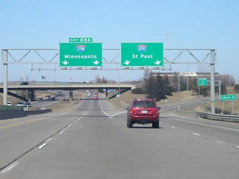I-35 north at I-35E/W - 2007