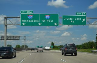 I-35E/W north split - Burnsville, MN