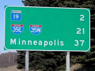 I-35 north at MN 19