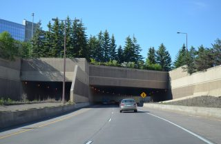 I-35 north at Superior Street tunnel - Duluth, MN