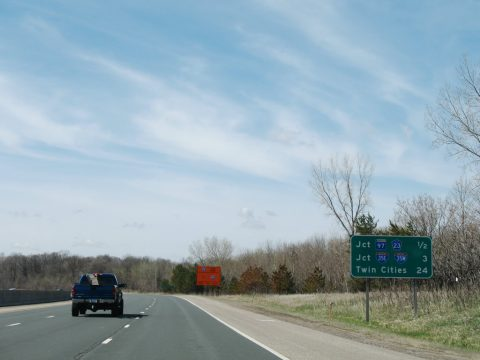 I-35 south at MN 97 - Columbus
