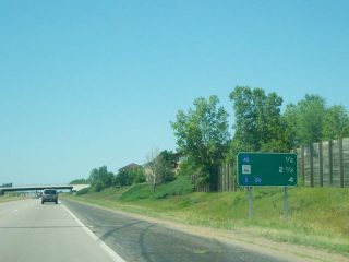 I-35E south at CR 42 - 2006