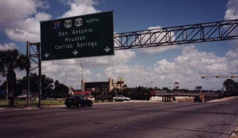 US 83 north at IH 35 - Laredo, TX