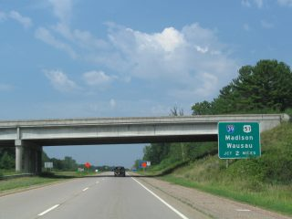 Wis 29 west at I-39/US 51 - Rothschild