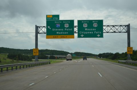 Wis 29 west at I-39/US 51 - Rib Mountain