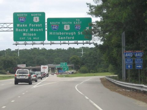 Wade Avenue east at I-440 - Raleigh, NC