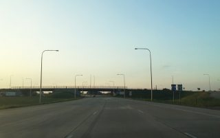 I-41/94 north at Wisconsin state line