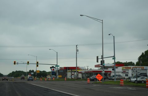 I-41/US 41 south at IL 173 - Wadsworth