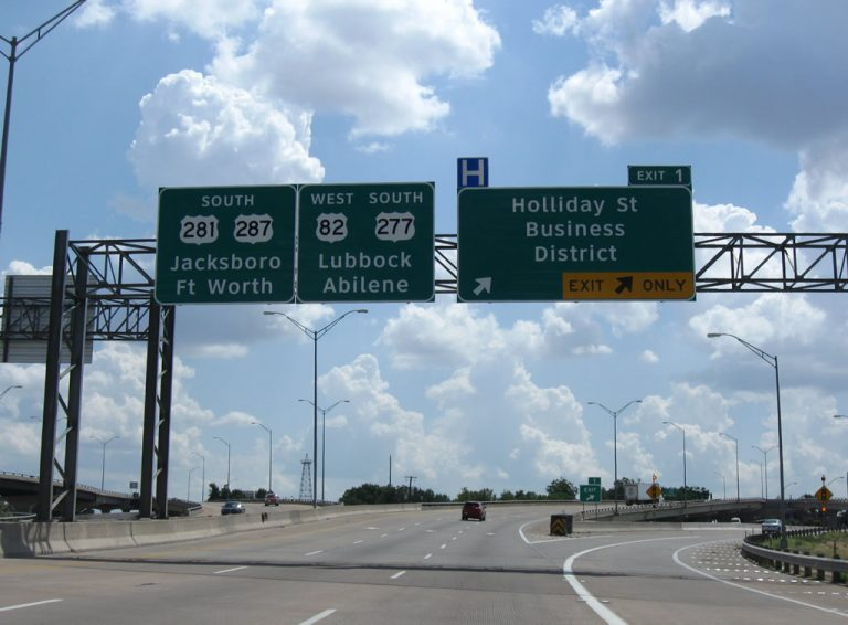 IH 44 west at Holliday St - Wichita Falls, TX