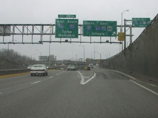 I-70 east at I-55 - St. Louis, MO - 2003