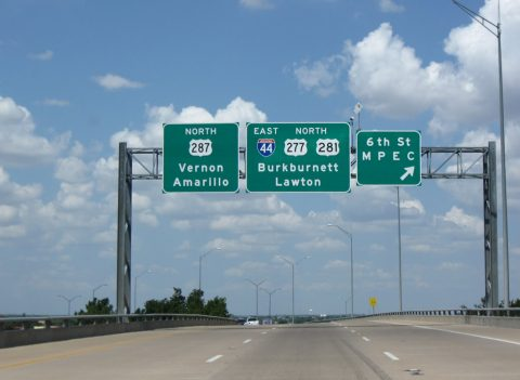US 277/281/287 north at IH 44 - Wichita Falls, TX