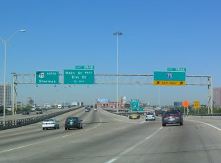 IH 45 north at IH 30/345 - Dallas, TX