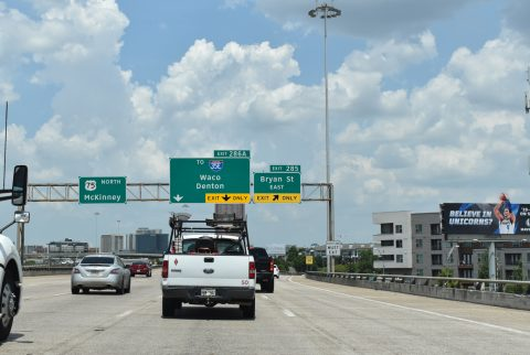 IH 345 north at US 75/SS 366 - Dallas, TX