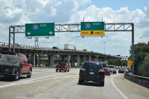 IH 345/US 75 south at IH 30/45 - Dallas, TX