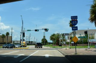 Spur 342 north at IH 45 - Galveston, TX