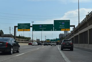 US 75/Central Expwy south at IH 345/SS 366 - Dallas, TX
