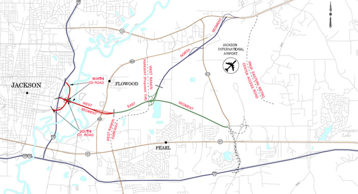 Airport Parkway Map