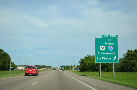I-10 east at I-55/US 51 - LaPlace, LA