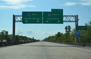 I-10 west at I-55 - LaPlace, LA