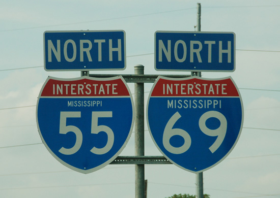 I-55/69 north - Southhaven, MS