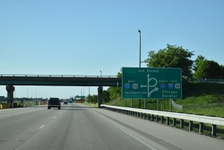 I-55 north at I-72/US 36 - Springfield, IL