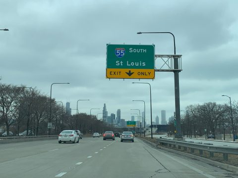 US 41/Lake Shore Dr north at I-55 - Chicago, IL