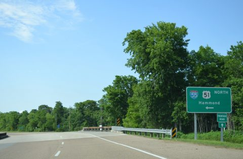 US 51 north at I-55 - LaPlace, LA