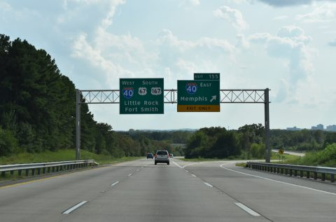US 67/167 south at I-40 - North Little Rock, AR