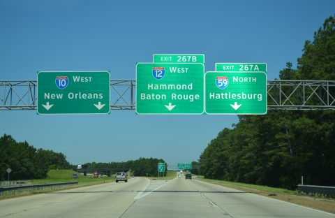 I-10 west at I-12/59 - Slidell, LA