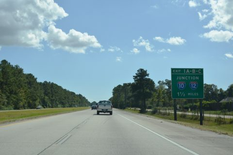 I-59 south at I-12/10 - Slidell, LA