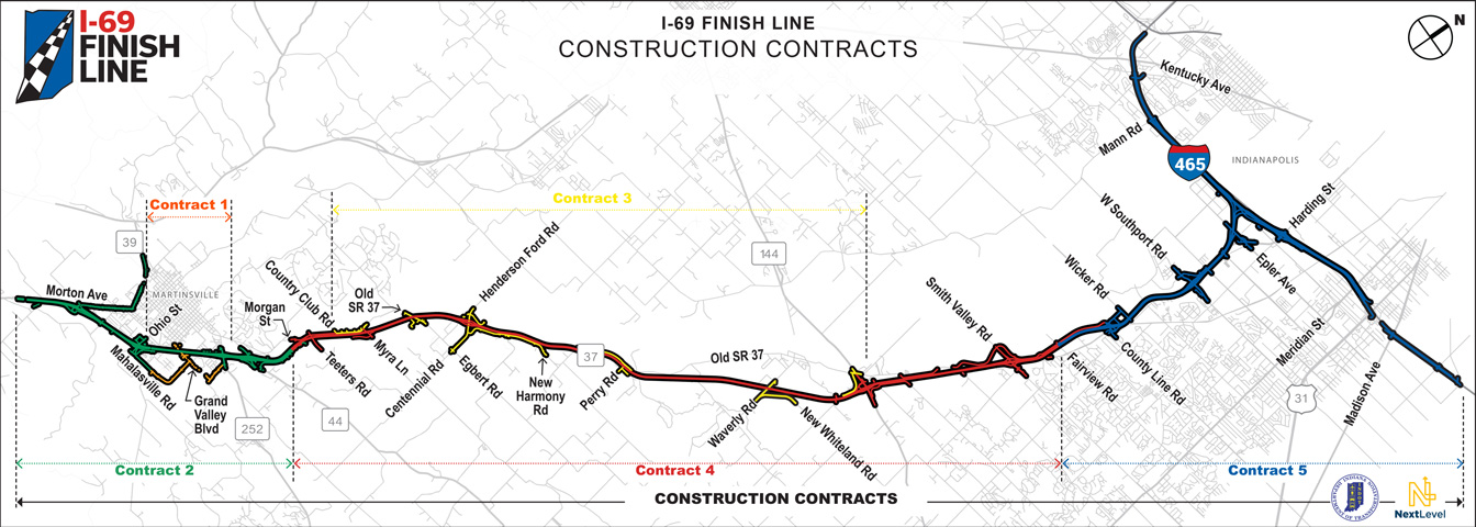 I-69 Section 6 Timeline October 2019