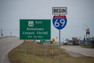 IH 69E/US 77 north at FM 892 - Robstown, TX
