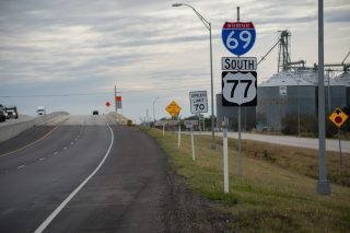IH 69E/US 77 south at FM 892 - Robstown, TX