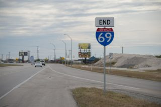 IH 69E/US 77 south at US 77B - Robstown, TX
