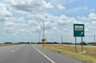 US 77 south at FM 2826 - Robstown, TX