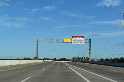 IH 69E/US 77-83 south at University Blvd - Brownsville, TX