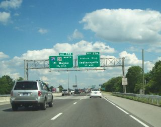 I-465 east at I-69/SR 37 - Indianapolis, IN