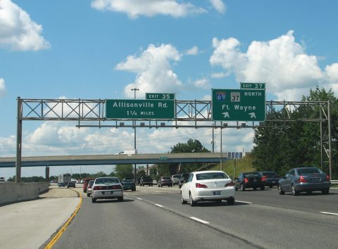 I-465 north at I-69 - Indianapolis, IN